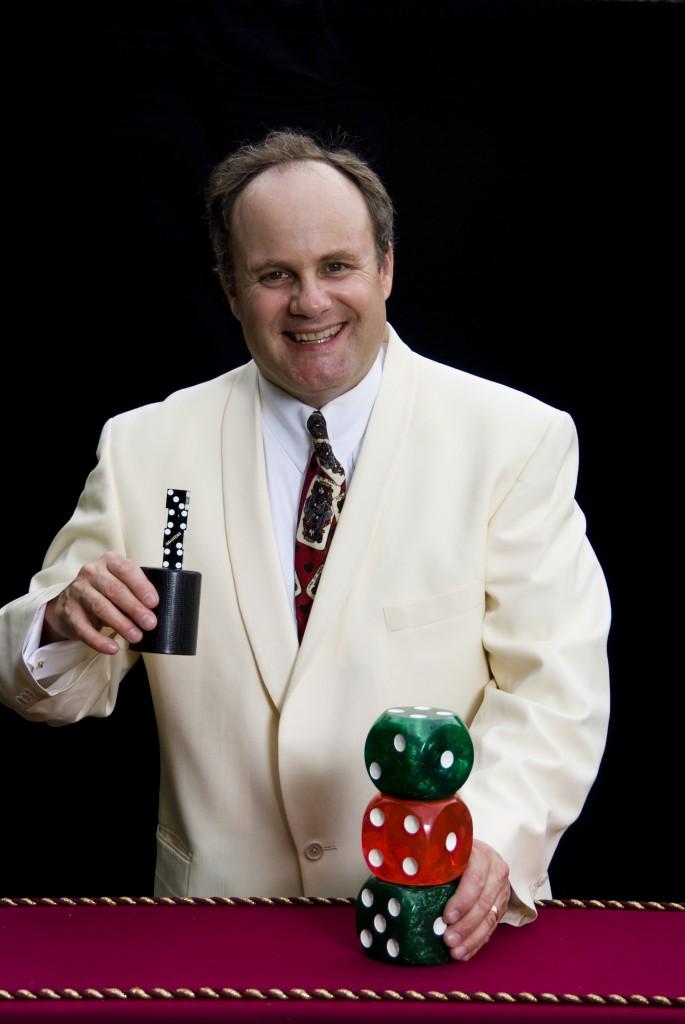 Dice magician Steve Belliveau
